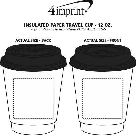 Imprint Area of Insulated Paper Travel Cup - 12 oz.
