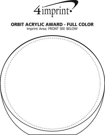 Imprint Area of Orbit Acrylic Award - Full Colour