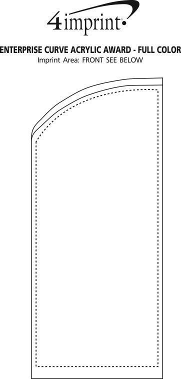 Imprint Area of Enterprise Curve Acrylic Award - Full Colour