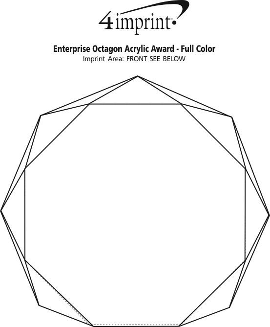 Imprint Area of Enterprise Octagon Acrylic Award - Full Colour