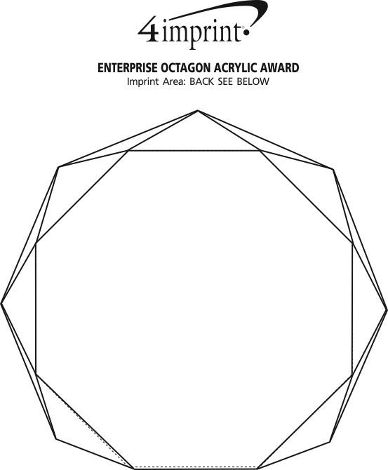 Imprint Area of Enterprise Octagon Acrylic Award