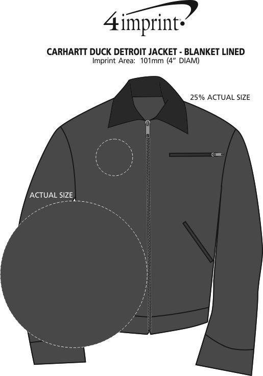 Imprint Area of Carhartt Duck Detroit Jacket - Blanket Lined