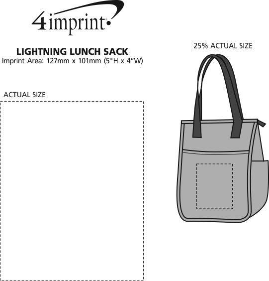 Imprint Area of Lightning Lunch Sack