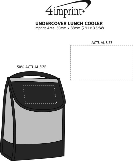 Imprint Area of Undercover Lunch Cooler
