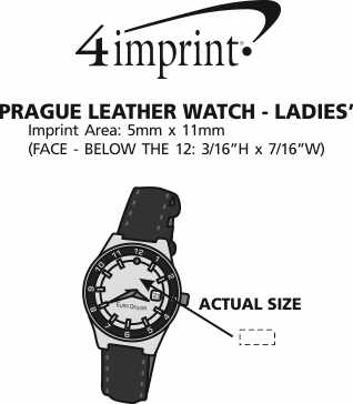 Imprint Area of Prague Leather Watch - Ladies'