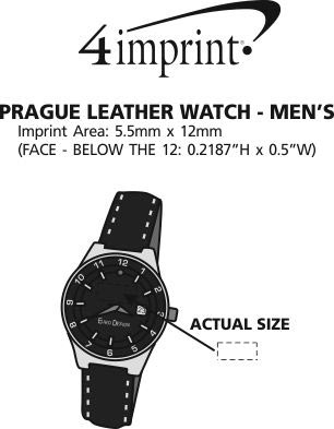 Imprint Area of Prague Leather Watch - Men's