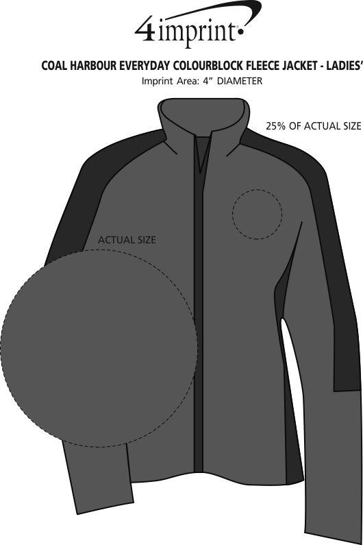 Imprint Area of Coal Harbour Everyday Colourblock Fleece Jacket - Ladies'