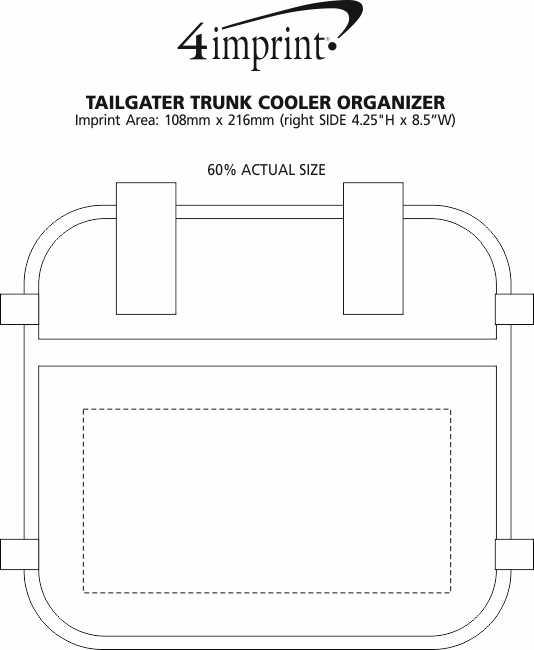 Imprint Area of Tailgater Trunk Cooler Organizer