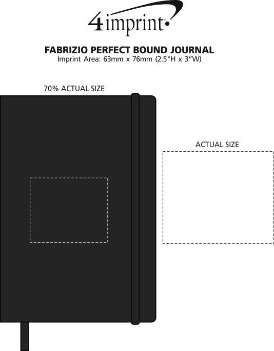 Imprint Area of Fabrizio Perfect Bound Journal