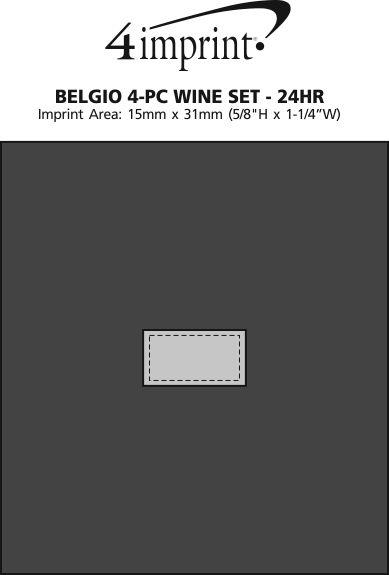 Imprint Area of Belgio 4-pc Wine Set - 24 hr