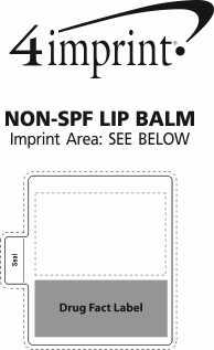 Imprint Area of Non-SPF Lip Balm
