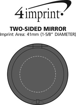 Imprint Area of Two-Sided Mirror