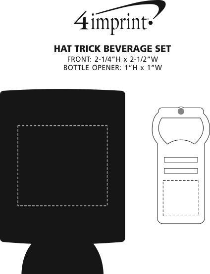 Imprint Area of Hat Trick Beverage Set