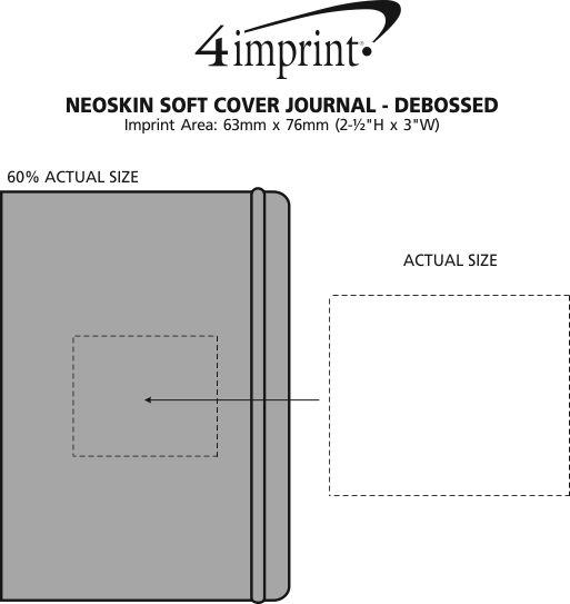 Imprint Area of Neoskin Soft Cover Journal - Debossed