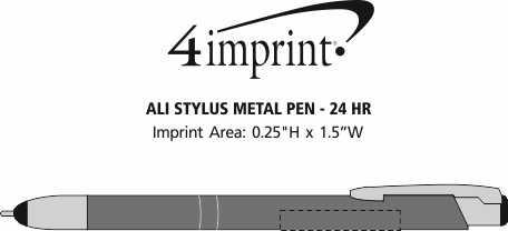 Imprint Area of Ali Stylus Metal Pen - 24 hr