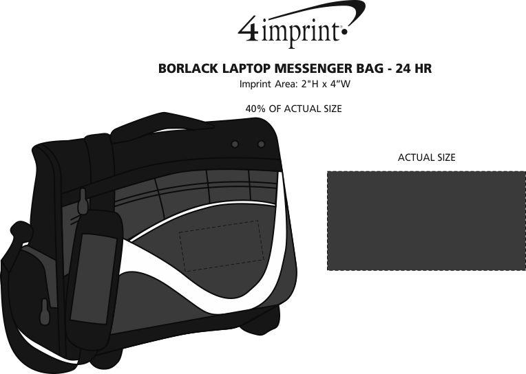 Imprint Area of Borlack Laptop Messenger Bag - 24 hr
