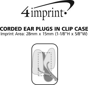 Imprint Area of Corded Ear Plugs in Clip Case