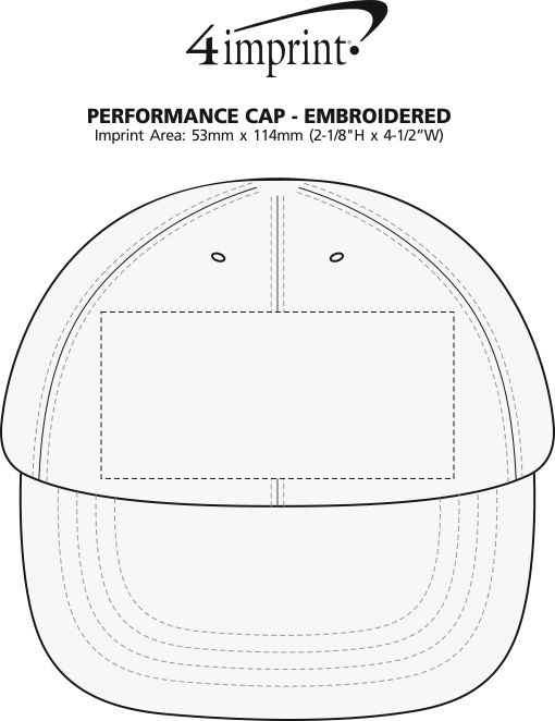 Imprint Area of Performance Cap - Embroidered