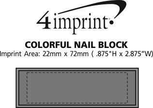 Imprint Area of Colourful Nail Block