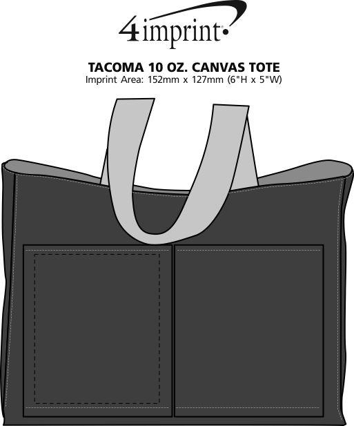 Imprint Area of Tacoma 10 oz. Canvas Tote