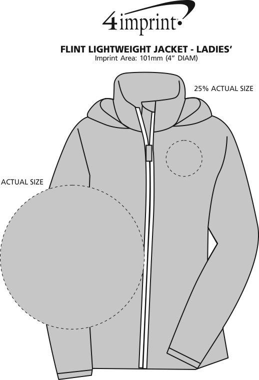 Imprint Area of Flint Lightweight Jacket - Ladies' - Embroidered