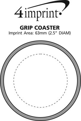 Imprint Area of Grip Coaster