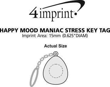 Imprint Area of Happy Mood Maniac Stress Keychain