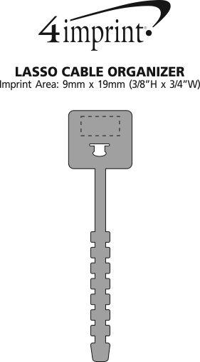 Imprint Area of Lasso Cable Organizer