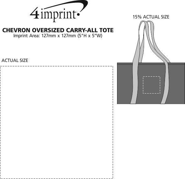 Imprint Area of Chevron Oversized Carry-All Tote