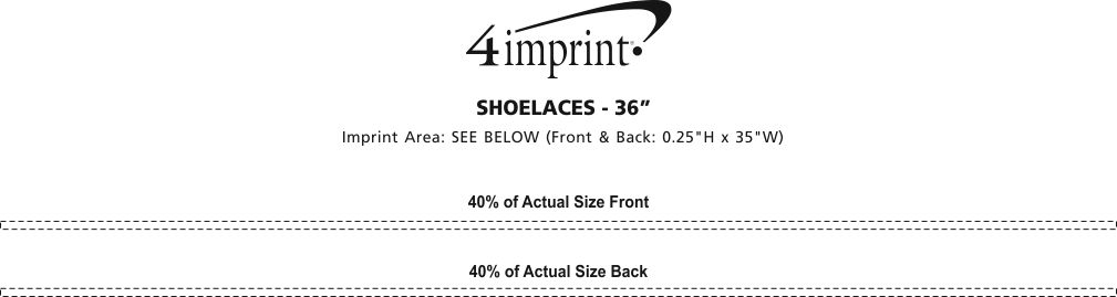 Imprint Area of Shoelaces - 36""