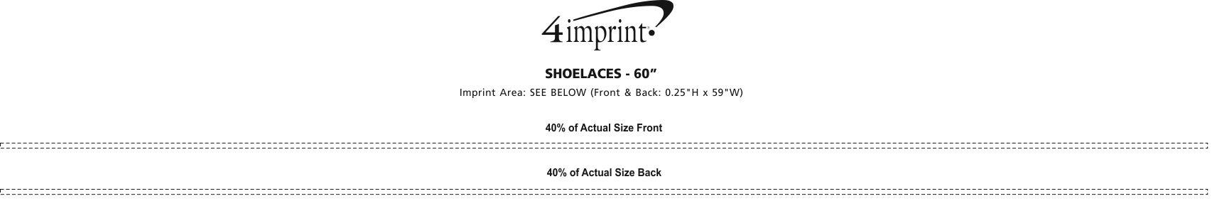"Imprint Area of Shoelaces - 60"""