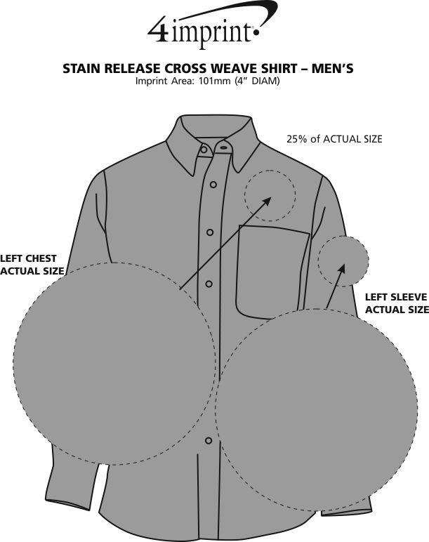 Imprint Area of Stain Release Cross Weave Shirt - Men's