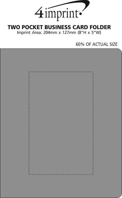 Imprint Area of Two Pocket Business Card Folder