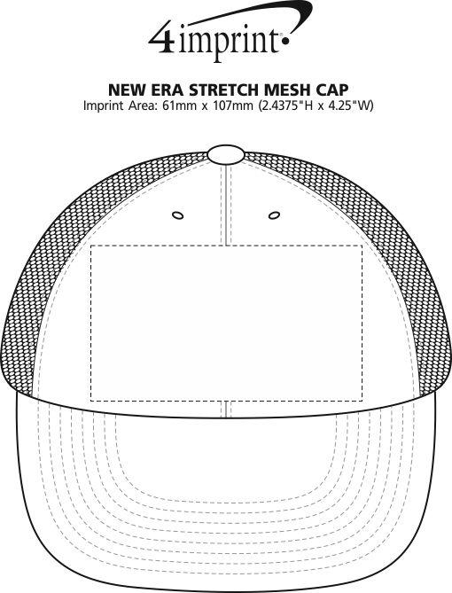 Imprint Area of New Era Stretch Mesh Cap