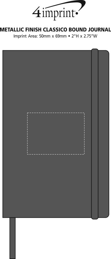 Imprint Area of Metallic Finish Classico Bound Journal