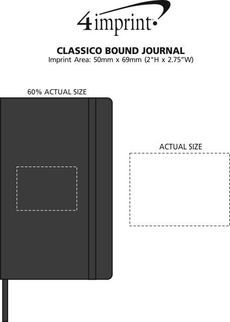 Imprint Area of Classico Bound Journal
