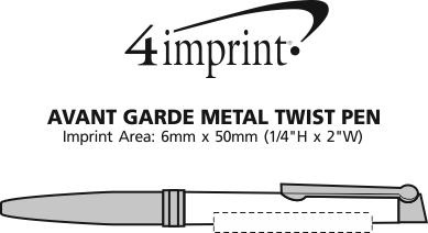 Imprint Area of Avant Garde Metal Twist Pen