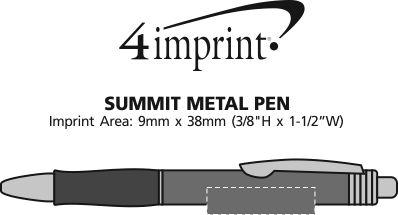 Imprint Area of Summit Metal Pen