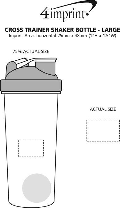 Imprint Area of Cross Trainer Shaker Bottle - Large