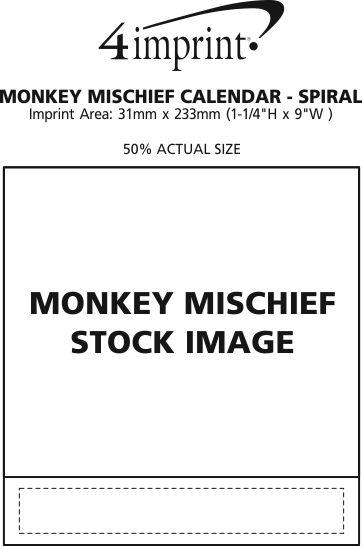 Imprint Area of Monkey Mischief Appointment Calendar - Spiral