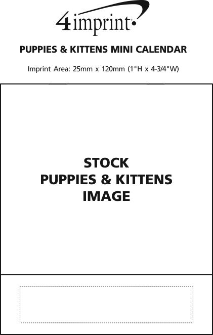 Imprint Area of Puppies & Kittens Appointment Calendar - Mini