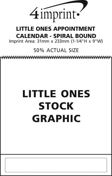 Imprint Area of Puppies & Kittens Appointment Calendar - Spiral