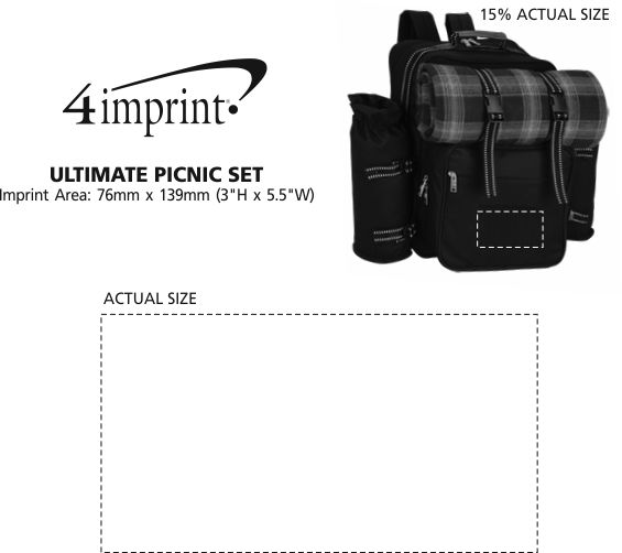 Imprint Area of Ultimate Picnic Set