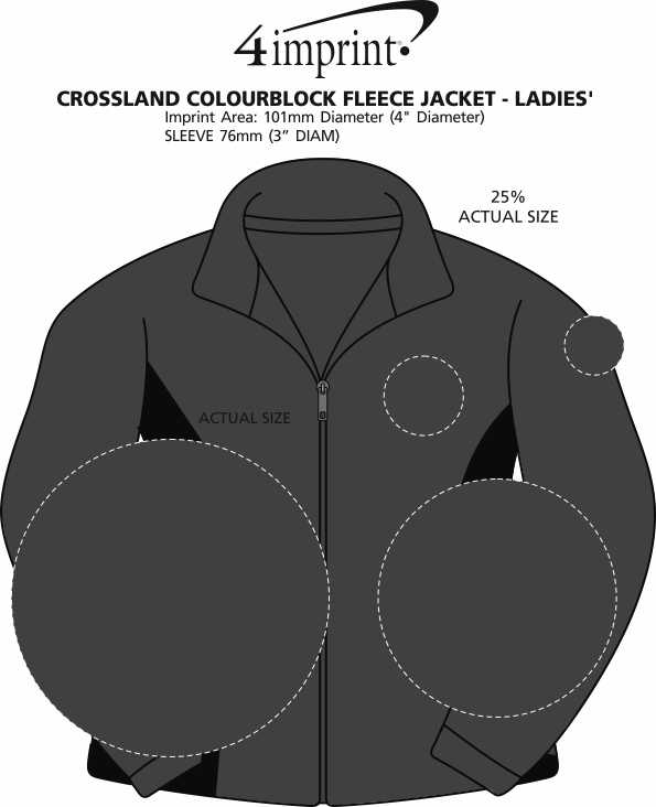 Imprint Area of Crossland Colourblock Fleece Jacket - Ladies'