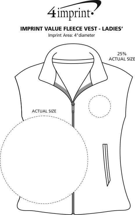 Imprint Area of Crossland Fleece Vest - Ladies'