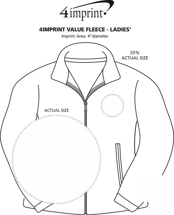Imprint Area of Crossland Fleece Jacket - Ladies'