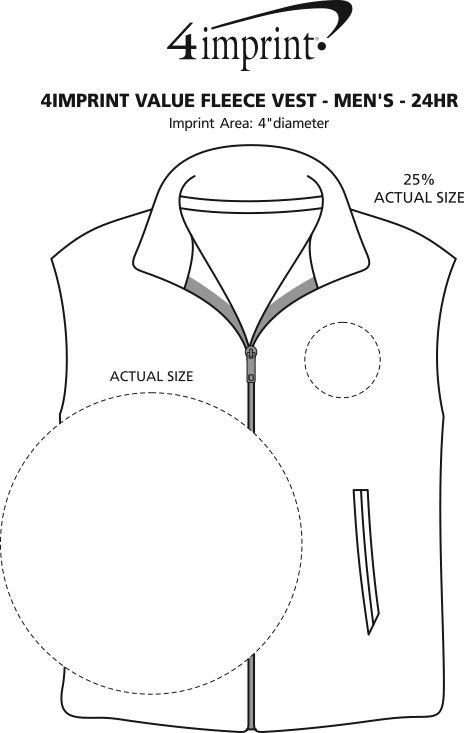 Imprint Area of Crossland Fleece Vest - Men's