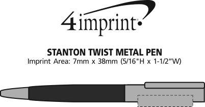 Imprint Area of Stanton Twist Metal Pen