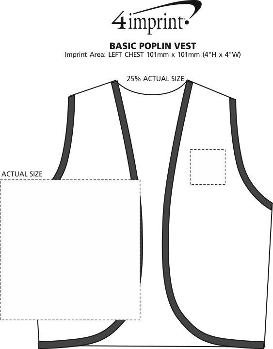 Imprint Area of Basic Poplin Vest