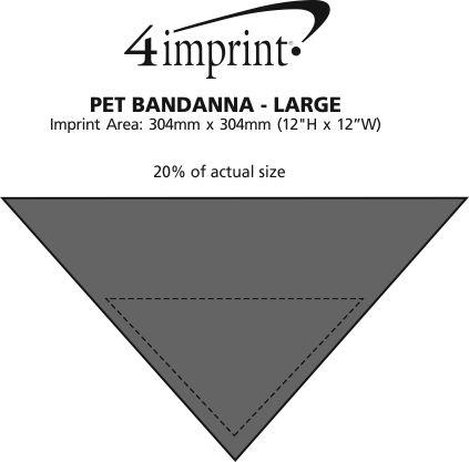 Imprint Area of Dog Bandana - Large